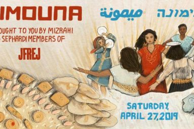 Mimouna banner features an invitation for April 27, 2019